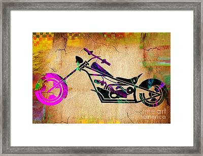Motorcycle Chopper Framed Print by Marvin Blaine