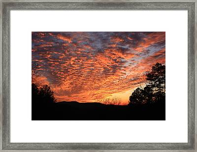 Framed Print featuring the photograph Mount Cheaha Sunset Alabama by Mountains to the Sea Photo