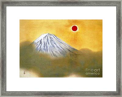 Mount Fuji Framed Print by Pg Reproductions