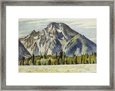 Mount Moran Framed Print by Edward Hopper