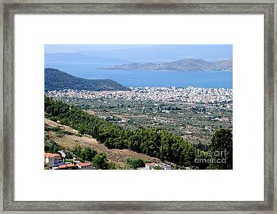 Mount Pelion View Framed Print by Andrea Simon