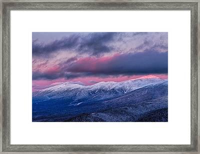 Mount Washington Summit In The Alpenglow Framed Print by Jeff Sinon