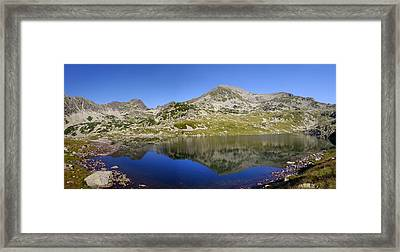Mountain And Lake Framed Print by Ioan Panaite