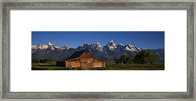 Mountain Barn Framed Print