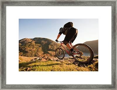 Mountain Bikers Framed Print