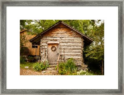 Mountain Cabin Framed Print