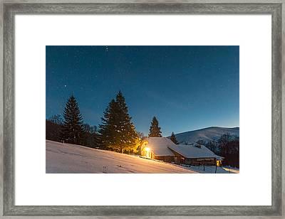 Mountain Hut Framed Print