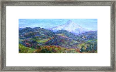 Mountain Patchwork Framed Print