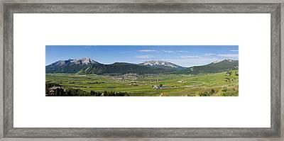 Mountain Range, Crested Butte, Gunnison Framed Print