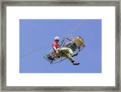 Mountain Rescue Training Framed Print by Ashley Cooper
