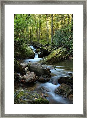 Mountain Stream Framed Print by Heavens View Photography