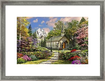 Mountain View Chapel Framed Print