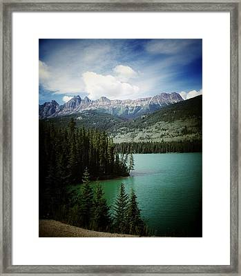 Mountain View Framed Print by Larysa  Luciw