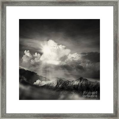 Mountain View Framed Print by Setsiri Silapasuwanchai