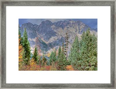Mountains And Trees Framed Print by Kathleen Struckle