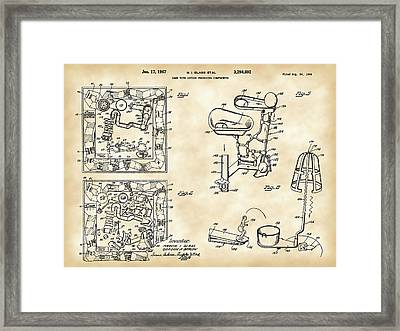 Mouse Trap Board Game Patent 1962 Framed Print by Stephen Younts