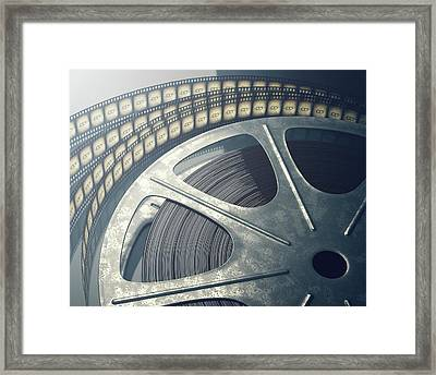 Movie Reel Framed Print