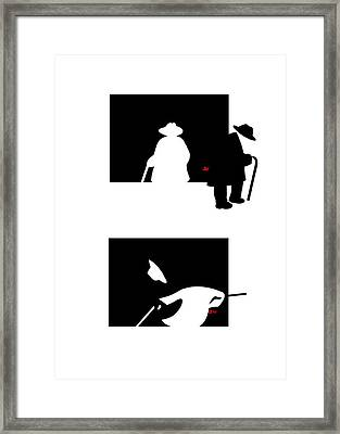 Framed Print featuring the digital art Moving On  by Tom Dickson