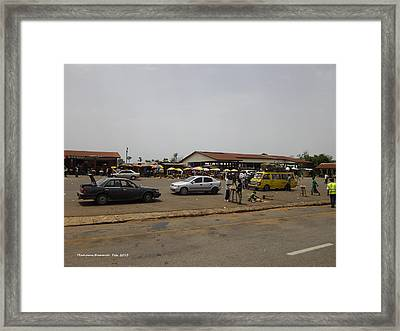 Moyamba Junction-markets Framed Print by Mudiama Kammoh