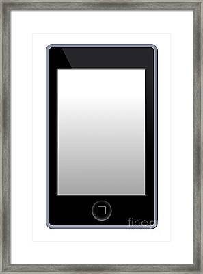 Mp3 Phone Player Framed Print by Henrik Lehnerer