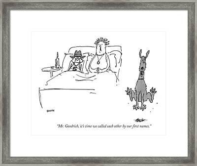 Mr. Goodrich Framed Print