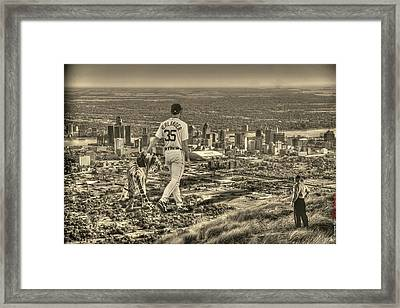 Mr. Justin Verlander Framed Print by Nicholas  Grunas