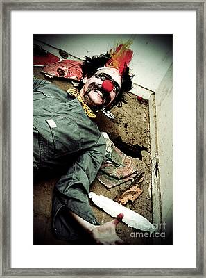 Mr Sleepy The Creepy Clown Framed Print by Jorgo Photography - Wall Art Gallery
