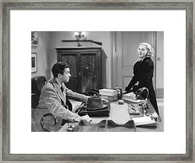 Mr. Smith Goes To Washington, From Left Framed Print by Everett