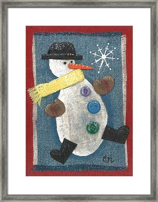Mr. Snowjangles Framed Print