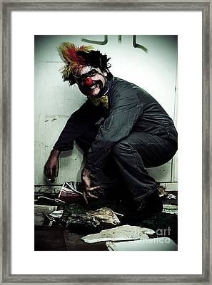 Mr Squatter The Unemployed Clown Framed Print by Jorgo Photography - Wall Art Gallery