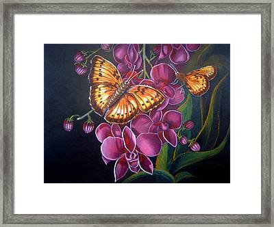 Butterfly Acrylic Painting Framed Print