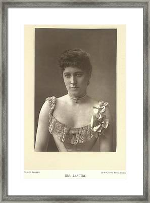 Mrs Langtry Framed Print by British Library