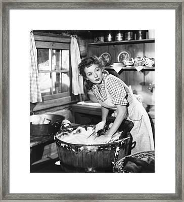 Mrs. Mike, Evelyn Keyes, 1949 Framed Print by Everett