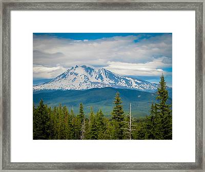 Mt. Adams From Indian Heaven Wilderness Framed Print by Patricia Babbitt