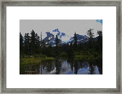 Mt Baker Washington  Framed Print