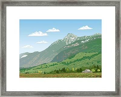 Mt Cheam In Spring Framed Print