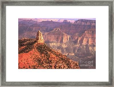Mt Hayden North Rim Grand Canyon Framed Print by Liz Leyden