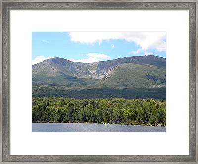 Mt. Katahdin Framed Print by James Petersen