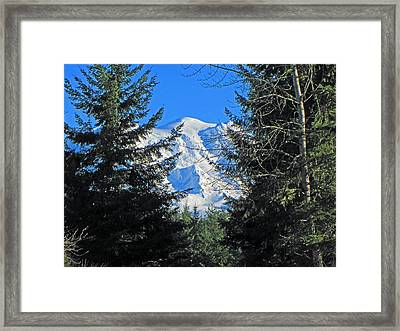 Framed Print featuring the photograph Mt. Rainier I by Tikvah's Hope