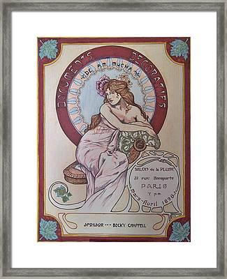 Mucha Poster Framed Print