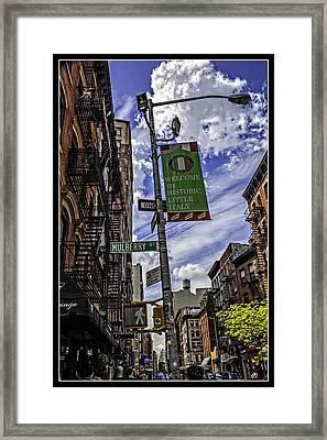 Mulberry St - Nyc Framed Print by Madeline Ellis