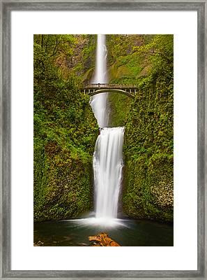 Multnomah Falls Framed Print by Patricia Davidson