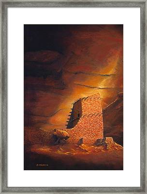 Mummy Cave Ruins Framed Print by Jerry McElroy
