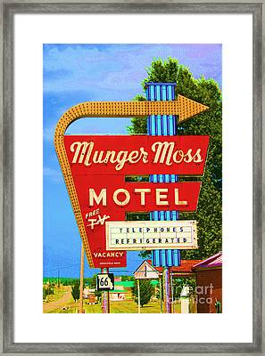 Munger Moss Motel Framed Print