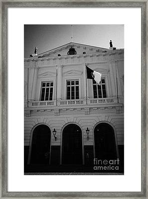 Municipalidad De Santiago City Hall Building Chile Framed Print by Joe Fox