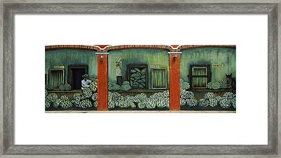 Mural On A Wall, Cancun, Yucatan, Mexico Framed Print by Panoramic Images