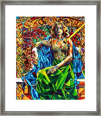 Framed Print featuring the painting Muse  Summer by Greg Skrtic