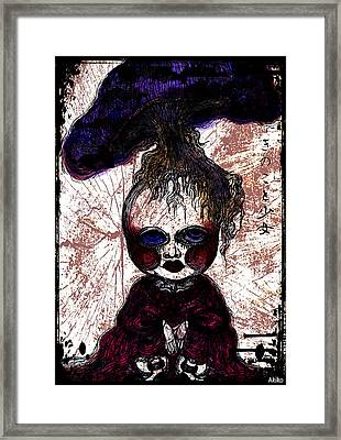 Mushroom Girl Framed Print by Akiko Okabe