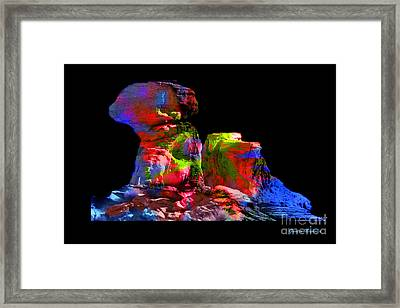 Mushroom Rock Framed Print by Gunter Nezhoda