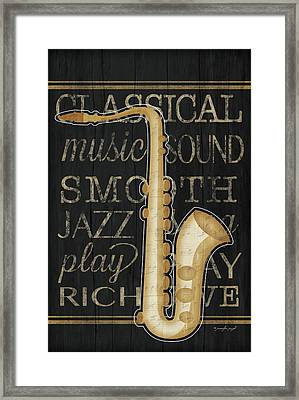Music Saxophone Framed Print by Jennifer Pugh
